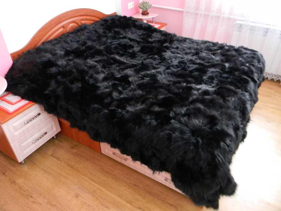 Как сшить одеяло из меха 4
