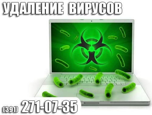 Лечение,чистка от вирусов на ноутбуке в Красноярске.