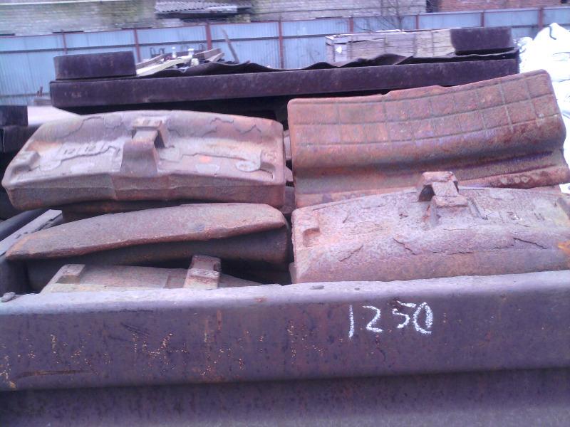 Колодка чугунная гребневая тип М для локомотивов ГОСТ 30249-97