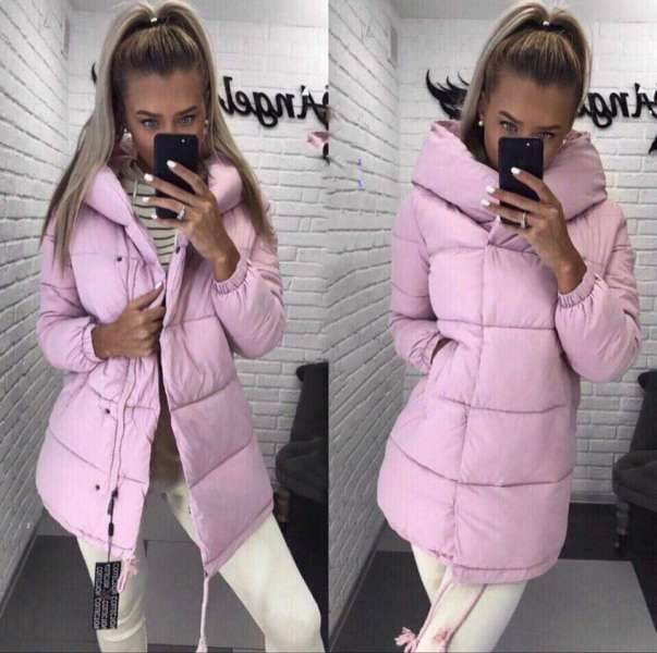 Зимняя теплая куртка пуховик Зефирка
