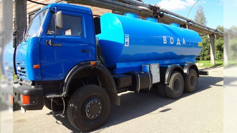 Доставка воды водовозом от 1 до 4 м.куб в Красноярске