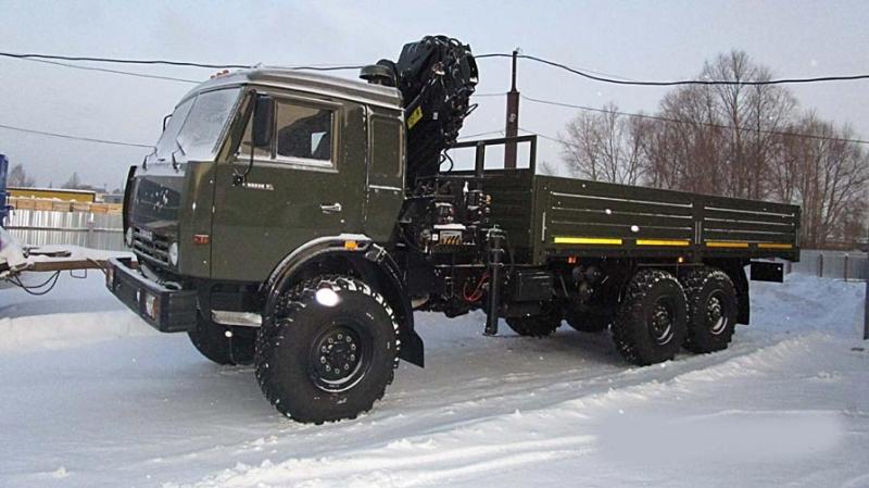 КамАЗ-43118 борт вездеход 6х6 с капремонта с КМУ Hiab-195.