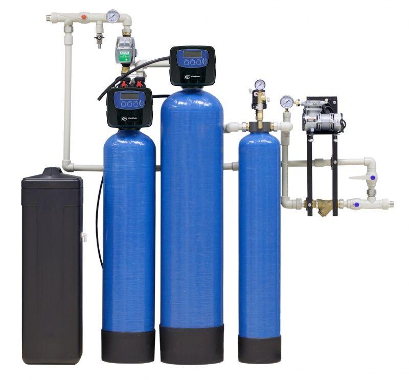 Фильтры умягчения и осветления воды для коттеджей, домов и дач.