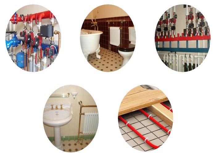 Монтаж систем отопления и водоснабжения в Рузе